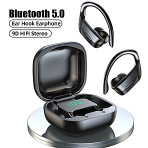cheap TWS True Wireless Headphones-LITBest B12 TWS Wireless Headphones Bluetooth 5.0 Earphones 9D Hifi Stereo Sports Waterproof Headphone LED Display Earphone Ear Hook Headset