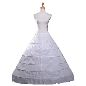 cheap Wedding Slips-Wedding Slips Polyester Floor-length Wedding / Steel ring with Fringe