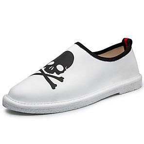 cheap Men's Slip-ons & Loafers-Men's Fall Casual Daily Loafers & Slip-Ons Elastic Fabric Non-slipping White / Black / Yellow