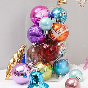 cheap Christmas Decorations-60 Pcs Random Christmas Balls Ornaments for Xmas Tree - Shatterproof Christmas Tree Decorations Hanging
