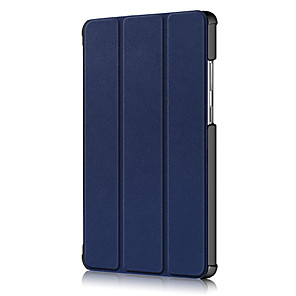 cheap Other Phone Case-Case For Lenovo Lenovo Tab M8 HD TB-8505F  X Tab M8 FHD TB-8705F  N Shockproof  Flip Full Body Cases Solid Colored PU Leather   PC