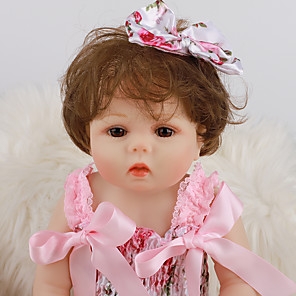 cheap Reborn Doll-NPK DOLL 20 inch Reborn Doll Girl Doll Baby Girl Newborn lifelike Cute Hand Made Child Safe Full Body Silicone with Clothes and Accessories for Girls' Birthday and Festival Gifts / Natural Skin Tone