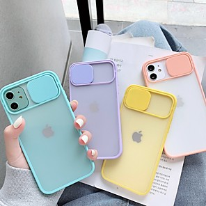 cheap iPhone Cases-Camera Lens Protection Phone Case For iPhone SE(2020) 11Pro Max 11Pro 11 Xr Xs Max 8 7 Plus 6s Transparent Solid Colored TPU Back Cover