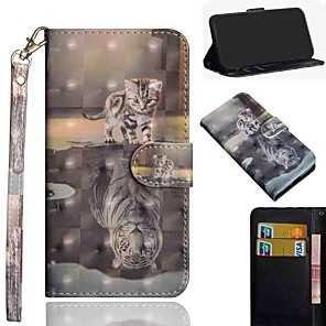 cheap Samsung Case-Case For Samsung Galaxy S20 S20 Plus S20 Ultra Wallet Card Holder with Stand Full Body Cases Cat Tiger PU Leather TPU for Galaxy A21 A11 A01 A51 A71 A41 A31 A21S