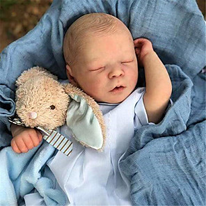 cheap Reborn Doll-17.5 inch Reborn Doll Baby Boy Reborn Baby Doll Saskia Newborn lifelike Hand Made Simulation Floppy Head Cloth Silicone Vinyl with Clothes and Accessories for Girls' Birthday and Festival Gifts