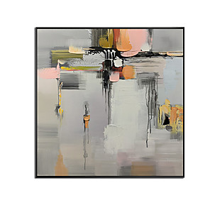 cheap Abstract Paintings-100% Hand-Painted Oil Painting On Canvas,Modern Abstract  Pattern,Oil Painting Paintings Art Abstract Mural Poster Wall Painting Design,Gallery Artwork for Living Room