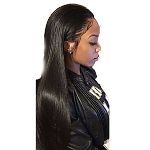 cheap Synthetic Lace Wigs-Synthetic Wig Straight Layered Haircut Wig Very Long Black Synthetic Hair Women's Party Exquisite Romantic Black