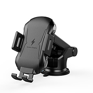 cheap Car Charger-Wireless Car Charger 10W 7.5W 5W  Turbo Fast Car Wireless Charger Auto Clamping Wireless Car Charger Mount Windshield Dashboard Phone Holder for iPhone 11/11 Pro/Pro MaxSamsung Note10/S10/S9 etc.