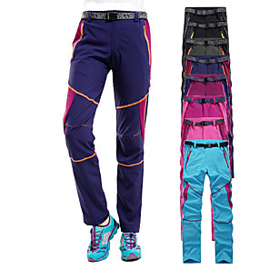 cheap Hiking Trousers & Shorts-Women's Hiking Pants Patchwork Summer Outdoor Waterproof Windproof UV Resistant Breathable Pants / Trousers Bottoms Pink / Purple Black Purple Fuchsia Sky Blue Camping / Hiking Hunting Ski / Snowboard