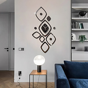 cheap Wall Stickers-3D DIY Wall Clock Roman Numerals Clock Frameless Mirror Wall Sticker Home Decor for Living Room Bedroom