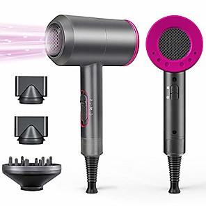 cheap Hair Dryers-1800W Professional Hair Dryer with Diffuser Ionic Conditioning - Powerful, Fast Hairdryer Blow Dryer,AC Motor Heat Hot and Cold Wind Constant Temperature Hair Care Without Damaging Hair