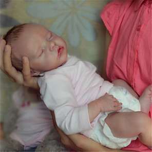 cheap Reborn Doll-17 inch Reborn Doll Baby & Toddler Toy Baby Girl Reborn Baby Doll Twins A Newborn lifelike Hand Made Simulation Floppy Head Cloth Silicone Vinyl with Clothes and Accessories for Girls' Birthday and