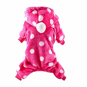 cheap Dog Clothes-fundiscount pet clothes for dog cat, puppy hoodies coat winter sweatshirt warm sweater dog outfits jumpsuit pajamas tracksuit sportswear doggie apparels clothes (hot pink,x-small)