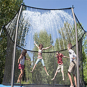 cheap Inflatable Ride-ons & Pool Floats-Trampoline Sprinkler Trampoline Spray Sprinkler Game Toys Water Toys Trampoline Accessories Sports & Outdoors Funny Summer Spring & Summer Outdoor Water Park Boys and Girls Kid's Adults