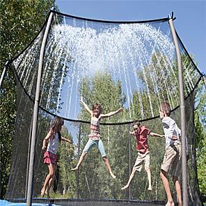 hesapli Şişme Botlar ve Havuz Şezlongları-Trambolin Yağmurlama Sistemi Trambolin Spreyi Yağmurlama Oyunu Oyuncakları Su Oyuncakları Trambolin Aksesuarları Sport i Turystyka Komik Yaz İlkbahar yaz Dış mekan Su parkı Erkek ve kızlar Çocuklar