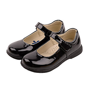 cheap Wedding Shoes-Boys' / Girls' Flats First Walkers / Flower Girl Shoes / Children's Day Patent Leather / PU Lace up Little Kids(4-7ys) / Big Kids(7years +) Walking Shoes Split Joint White / Black Spring / Fall