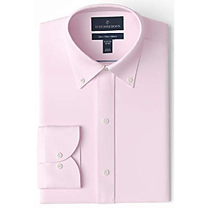 """cheap Aquarium Heaters & Thermometers-amazon brand - men's slim-fit button collar solid non-iron dress shirt, light pink/pockets, 15.5"""" neck 34"""" sleeve"""