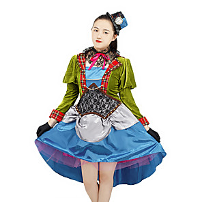 cheap Anime Costumes-Inspired by Alice's Adventures in Wonderland Anime Cosplay Costumes Japanese Cosplay Suits Costume For Women's