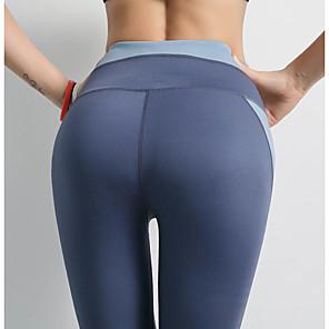 abordables Vêtements de Fitness, de Course et de Yoga-Femme Sportif Yoga Quotidien Joggings Pantalon Couleur Pleine Sportif Respirable Bleu clair S M L