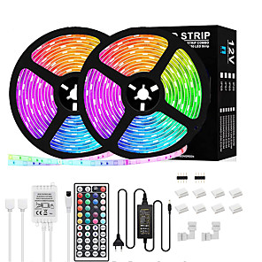 cheap LED Strip Lights-LED Strip Lights 5m 10m RGB LED Light Strip 5050 Flexible 150-300LED Tape Lights Color Changing with Remote for Home Lighting Kitchen Bed Bar Decor