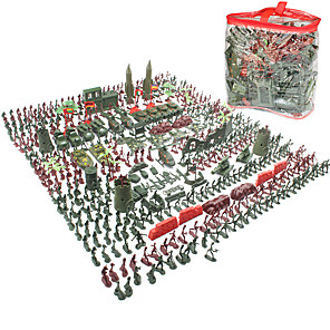 cheap Building Blocks-Action Figure Toy Playsets Military Tactical Simulation Plastic 520 pcs Kid's Child's Party Favors, Science Gift Education Toys for Kids and Adults