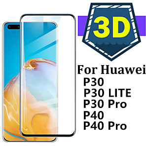 cheap iPhone Cases-For Glass Huawei P40 Pro P30 Lite Tempered Glass Full Cover Protective Glass Screen Protetor for Huawei P40 For Huawei P40  P30 Pro Glass
