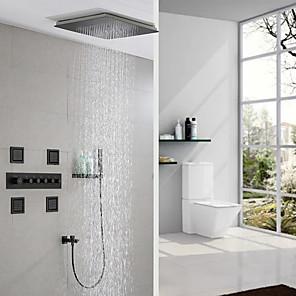 cheap Classical-Shower Faucet / Body Jet Massage Set - Multi Spray Shower Contemporary Painted Finishes Mount Inside Ceramic Valve Bath Shower Mixer Taps
