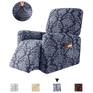 cheap Sofa Cover-1-Piece Elegant Jacquard Recliner Chair Cover Stretch Spandex Sofa Slipcovers Covers Furniture Protector with Elastic Bottom Side Pocket