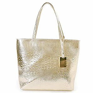 cheap Handbag & Totes-cyber sale monday deals womens crocodile large tote handbag purse shoulder bag