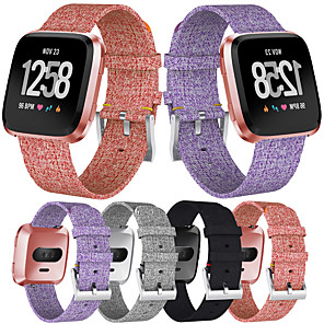 cheap Smartwatch Bands-Watch Band for Fitbit Versa / Fitbi Versa Lite / fitbit versa 2 Fitbit Classic Buckle Canvas Wrist Strap