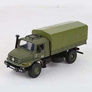 cheap Building Blocks-1:18 Plastic Aluminum-magnesium alloy Truck Military Vehicle Toy Truck Construction Vehicle New Design Simulation assembled packing All Unisex Kids Car Toys
