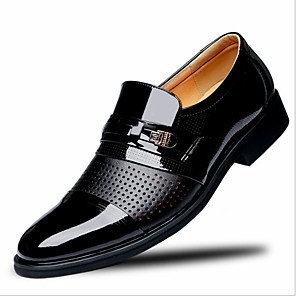 cheap Men's Oxfords-Men's Summer Business Office & Career Oxfords Walking Shoes PU Breathable Non-slipping Black / Brown