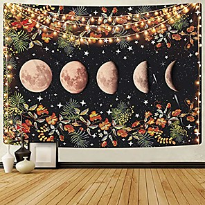 cheap Wall Tapestries-Wall Tapestry Art Decor Blanket Curtain Picnic Tablecloth Hanging Home Bedroom Living Room Dorm Decoration Moon Sky Galaxy