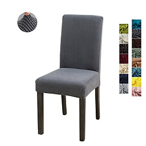 cheap Chair Cover-1 Piece Solid Color Stretch Removable Washable Dining Chair Covers, Dining Room Chair Protector Seat Slipcover for Hotel,Banquet,Wedding,Party