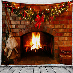 cheap Wall Tapestries-Christmas Santa Claus Holiday Party Wall Tapestry Art Decor Blanket Curtain Picnic Tablecloth Hanging Home Bedroom Living Room Dorm Decoration Fireplace Gift