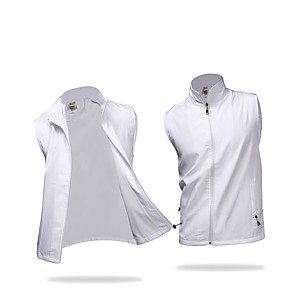 cheap Golf, Tennis & Badminton-Men's Golf Outdoor Exercise Vest / Gilet Windproof Rain Waterproof Breathability Sports & Outdoor Autumn / Fall Spring Solid Colored White Black Purple Yellow Red