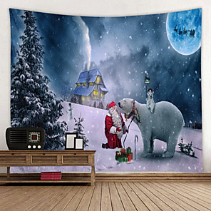 cheap Wall Tapestries-Christmas Santa Claus Wall Tapestry Art Decor Blanket Curtain Picnic Tablecloth Hanging Home Bedroom Living Room Dorm Decoration Gift Snow Polyester