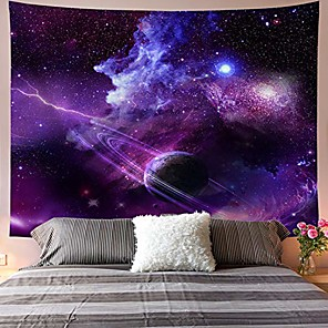 cheap Wall Tapestries-galaxy tapestry starry sky tapestry psychedelic tapestry space landscape tapestry purple starry art print wall hanging tapestry for home decor& #40;h70.8×w92.5 inches& #41;