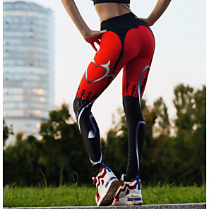 cheap Women's Running Tights & Leggings-Women's Running Tights Leggings Compression Pants Street Bottoms Winter Fitness Gym Workout Running Jogging Training Butt Lift Breathable Quick Dry Sport Red / Stretchy / Athletic / Athleisure