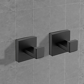 cheap Robe Hooks-Robe Hook Premium Design / Creative Contemporary / Traditional Stainless Steel / Stainless steel / Metal 2pcs - Bathroom Wall Mounted