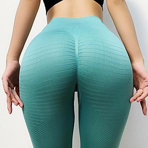 cheap Women's Yoga Pants-Women's High Waist Yoga Pants Scrunch Butt Seamless Tights Leggings Tummy Control Butt Lift Breathable Black Blue Orange Nylon Yoga Fitness Gym Workout Winter Sports Activewear High Elasticity