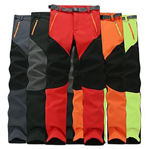 cheap Men's Hiking Pants & Shorts-Men's Hiking Pants Softshell Pants Outdoor Waterproof Lightweight Windproof Fleece Lining Autumn / Fall Winter Softshell Pants / Trousers Bottoms Camping / Hiking Hunting Climbing Black Grey Orange S