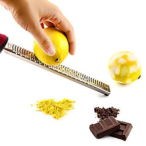 cheap Kitchen Utensils & Gadgets-Cheese Chocolate Lemon Grater Fruit Zester Sharp Durable Scraper Stainless Steel Kitchen Tool Set