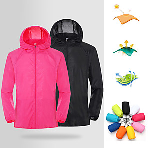 cheap Women's Hiking Jackets-Women's Men's UPF 50+ UV Sun Protection Lightweight Jacket Zip Up Hoodie Jacket Windbreaker Cooling Sun Shirt with Pockets Quick Dry Packable Coat Top Hiking Fishing Outdoor Performance