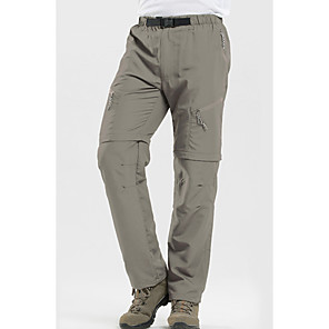 cheap Men's Hiking Pants & Shorts-Men's Hiking Pants Convertible Pants / Zip Off Pants Outdoor UV Resistant Breathable Quick Dry Sweat-wicking Pants / Trousers Bottoms Black Army Green Grey Khaki Camping / Hiking Fishing Climbing S M