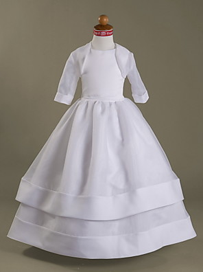 cheap Wedding Wraps-Half Sleeve Shrugs Organza Wedding / Party / Evening Kids' Wraps With