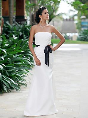 cheap Wedding Dresses-Mermaid / Trumpet Wedding Dresses Strapless Sweetheart Neckline Floor Length Taffeta Sleeveless Wedding Dress in Color with 2020
