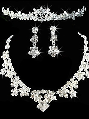 cheap Wedding Veils-Women's Others Jewelry Set Earrings / Necklace / Tiaras - Regular For Wedding / Party / Anniversary