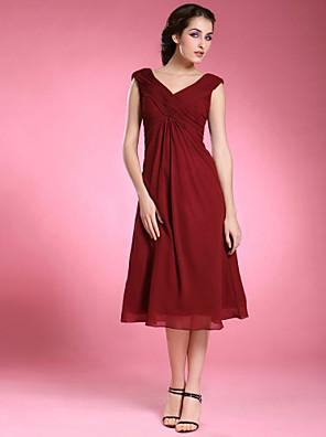 ab83624df1d1 Η μητέρα της νύφης φόρεμα Θήκη Στήλη Μέχρι τα Μέσα της Κνήμης - Αμάνικο  Σιφόν