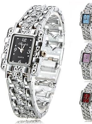 cheap Quartz Watches-Women's Fashion Watch Bracelet Watch Quartz Alloy Band Analog Sparkle Elegant Silver - Purple Red Blue One Year Battery Life / Tianqiu 377